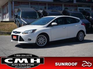 Used 2014 Ford Focus Titanium  NAV CAM ROOF LEATH HTD-SEATS 17-AL for sale in St. Catharines, ON