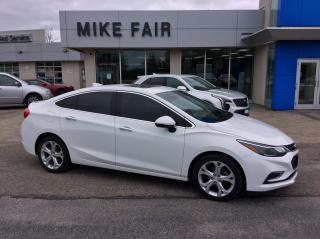 Used 2017 Chevrolet Cruze Premier Auto Cruise Control, Wireless Charging, Heated Front Seats, Power Sliding Sunroof, Remote Start for sale in Smiths Falls, ON