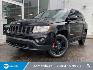 Used 2012 Jeep Compass NORTH- CLOTH, HEATED SEATS, BLUETOOTH AND MORE! for sale in Edmonton, AB