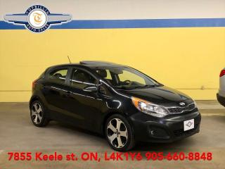Used 2013 Kia Rio SX Auto, Sunroof, B-Cam, Leather, Heated Steering for sale in Vaughan, ON
