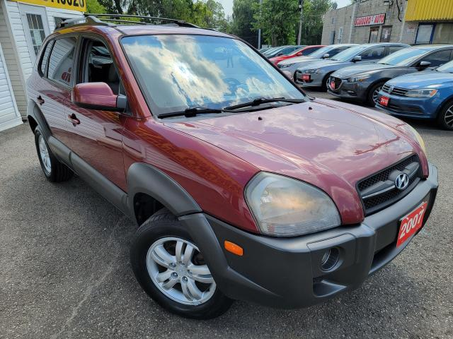 2007 Hyundai Tucson LIMITED/4WD/LEATHER/ROOF/LOADED/ALLOYS