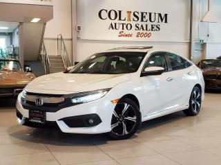 Used 2018 Honda Civic TOURING-AUTO-NAVI-CAMERA-LEATHER-SUNROOF-LOADED for sale in Toronto, ON