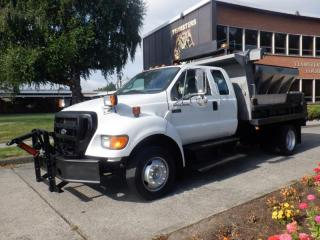 Used 2006 Ford F-650 2WD Dump box Dually Diesel with spreader with plow for sale in Burnaby, BC