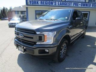 Used 2019 Ford F-150 LOADED XLT-FX4-EDITION 5 PASSENGER 5.0L - V8.. 4X4.. CREW-CAB.. SHORTY.. TRAILER BRAKE.. NAVIGATION.. POWER PEDALS.. BLUETOOTH SYSTEM.. for sale in Bradford, ON