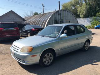 Used 2004 Hyundai Accent **AS IS SALE**  Manual Locks * Power Windows * AM/FM/CD * 12V DC Outlet * Climate Control * Rear Child Seat Anchors * Rear Wiper * for sale in Cambridge, ON