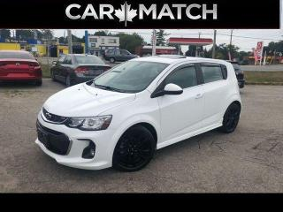 Used 2018 Chevrolet Sonic PREMIER RS / LEATHER / SUNROOF / NO ACCIDENTS for sale in Cambridge, ON