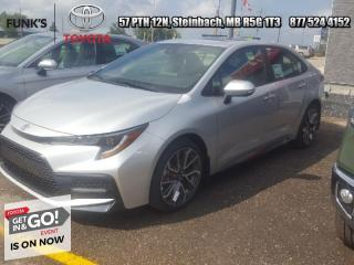New 2022 Toyota Corolla SE Upgrade  - Sunroof - Apple CarPlay for sale in Steinbach, MB