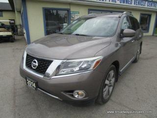 Used 2014 Nissan Pathfinder FOUR-WHEEL DRIVE PLATINUM-MODEL 7 PASSENGER 3.5L - V6.. BENCH & 3RD ROW.. NAVIGATION.. LEATHER.. HEATED/AC SEATS.. DVD HEADRESTS.. DUAL SUNROOF.. for sale in Bradford, ON