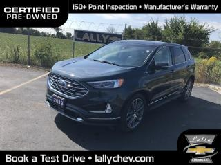 Used 2019 Ford Edge Titanium TITANIUM**AWD**LEATHER**HEATED/COOLED SEATS**PANO for sale in Tilbury, ON