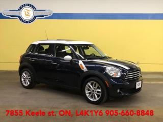 Used 2014 MINI Cooper Countryman Auto, Pano Roof, Leather, 2 Years Warranty for sale in Vaughan, ON