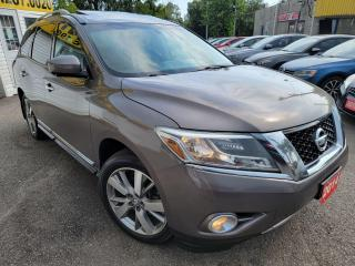 Used 2014 Nissan Pathfinder PLATINUM/NAVI/CAMERA/LEATHER/ROOF/LOADED/ALLOYS++ for sale in Scarborough, ON