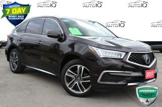 Used 2017 Acura MDX Navigation Package 7 PASSENGER ALL WHEEL DRIVE NAVIGATION for sale in Hamilton, ON