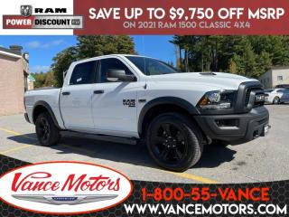 New 2021 RAM 1500 Classic Warlock 4x4...V8*HTD SEATS*REMOTE START! for sale in Bancroft, ON