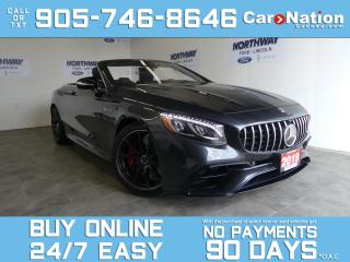 Used 2019 Mercedes-Benz S-Class AMG S 63 4MATIC+ | CONVERTIBLE | OVER 215,000 NEW! for sale in Brantford, ON