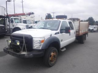 Used 2011 Ford F-450 SD Flat Deck 12 foot Crew Cab DRW 4WD Diesel with Power Tailgate for sale in Burnaby, BC
