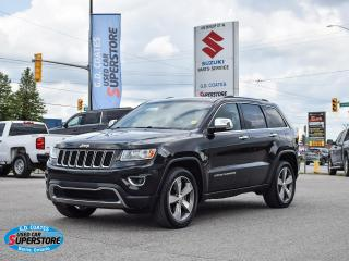 Used 2015 Jeep Grand Cherokee Limited 4x4 ~Nav ~Cam ~Heated Leather ~Moonroof for sale in Barrie, ON
