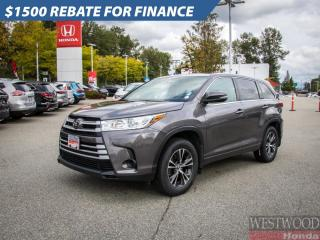Used 2018 Toyota Highlander LE for sale in Port Moody, BC