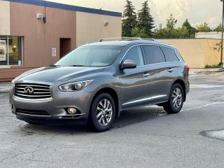 Used 2015 Infiniti QX60 PREMUIM LEATHER/SUNROOF/CAMERA/7 PASS for sale in North York, ON