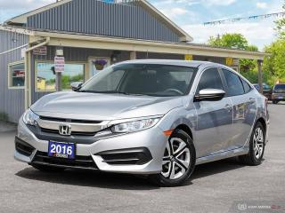 Used 2016 Honda Civic LX,LOW KMS,ECON,R/V CAM,B.TOOTH,H/SEATS for sale in Orillia, ON