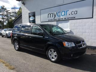 Used 2019 Dodge Grand Caravan Crew LEATHER, NAV, PWR DOORS, HATCH, LOADED!! for sale in Richmond, ON