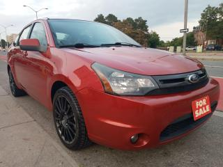 Used 2010 Ford Focus SES-4CYL-LEATHER-SUNROOF-BLUETOOTH-AUX-ALLOYS for sale in Scarborough, ON