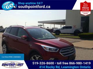 Used 2019 Ford Escape Titanium TIT|4WD|NAV|MOONROOF|HTD SEATS|ADAPTIVE CRUISE|REMOTE START|LANE KEEPING for sale in Leamington, ON