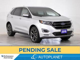 Used 2018 Ford Edge Sport AWD, Navi, Pano Roof, Cooled Seats,Bluetooth for sale in Brampton, ON