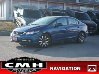 Used 2014 Honda Civic Sedan Touring  NAV CAM ROOF LEATH HTD-SEATS for sale in St. Catharines, ON