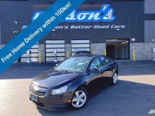 Used 2014 Chevrolet Cruze Diesel, Leather, Sunroof, Navigation, Heated Seats, Remote Start, Blindspot Monitor and more! for sale in Guelph, ON