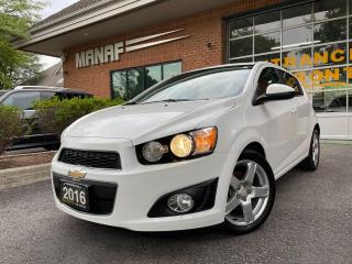 Used 2016 Chevrolet Sonic LT Turbo Sunroof Rear Cam Heated Seats Certified* for sale in Concord, ON
