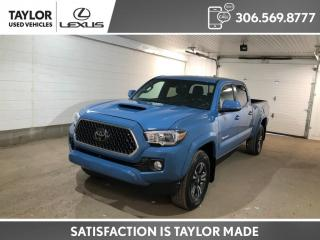 Used 2019 Toyota Tacoma SR5 V6 TRD SPORT PACKAGE IN CAVALRY BLUE! for sale in Regina, SK