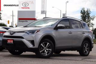 Used 2018 Toyota RAV4 LE, HEATED SEATS, BACK-UP CAMERA, LANE KEEP ASSIST, ADAPTIVE CRUISE CONTROL, BLUETOOTH, CLEAN CARFAX for sale in Orangeville, ON