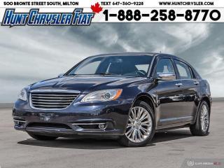 Used 2012 Chrysler 200 LIMITED | V6 | LEATHER | NAV | SUN | ALLOYS & MORE for sale in Milton, ON
