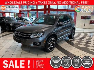 Used 2017 Volkswagen Tiguan R-Line 4Motion - Local / One Owner / Pano Sunroof / Nav for sale in Richmond, BC
