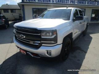 Used 2018 Chevrolet Silverado 1500 LOADED LTZ-Z71-MODEL 5 PASSENGER 5.3L - V8.. 4X4.. CREW-CAB.. SHORTY.. NAVIGATION.. LEATHER.. HEATED/AC SEATS.. POWER PEDALS.. BLUETOOTH SYSTEM.. for sale in Bradford, ON
