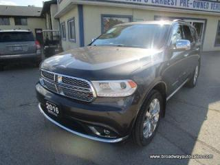 Used 2016 Dodge Durango ALL-WHEEL DRIVE CITADEL-EDITION 7 PASSENGER 3.6L - V6.. BENCH & 3RD ROW.. NAVIGATION.. LEATHER.. HEATED/AC SEATS.. POWER SUNROOF.. BACK-UP CAMERA.. for sale in Bradford, ON