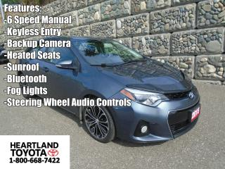 Used 2015 Toyota Corolla S with UPGRADE PACKAGE for sale in Williams Lake, BC