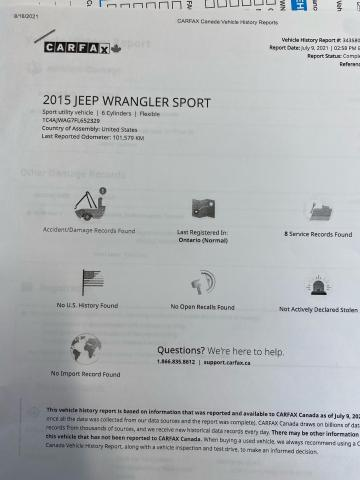 2015 Jeep Wrangler SPORT Photo16