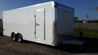 Used 2020 E-Z Hauler Aluminum Trailer 8.5 x 22 Cargo Ramp Door for sale in Elie, MB