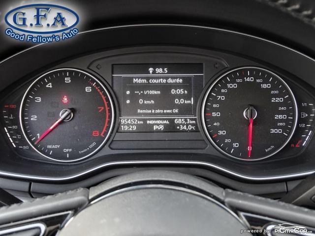 2017 Audi A4 KOMFORT, QUATRO, AWD, LEATHER SEATS, POWER SEATS Photo21