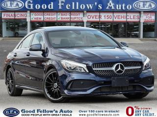 2018 Mercedes-Benz CLA250 4MATIC, PAN ROOF, NAVI, LEATHER SEATS, AMG PACKAGE