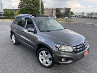 Used 2014 Volkswagen Tiguan 4Motion, Only 140000 KM, Panoramic Sunroof, Leathe for sale in Toronto, ON