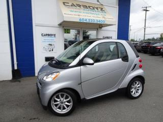 Used 2008 Smart fortwo Passion, 2 Dr, Heated Seats, Glass Roof, Low Kms! for sale in Langley, BC