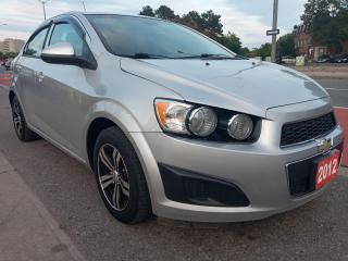 Used 2012 Chevrolet Sonic LS-EXTRA CLEAN-ONLY 152K-4 CYL-AUX-ALLOYS-MUST SEE for sale in Scarborough, ON