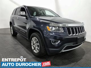 Used 2016 Jeep Grand Cherokee Limited Cuir- Toit ouvrant- Caméra de recul for sale in Laval, QC