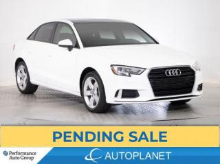 Used 2018 Audi A3 Komfort, Sunroof, Heated Seats, Bluetooth! for sale in Brampton, ON
