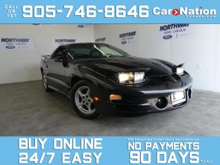 Used 2002 Pontiac Firebird TRANS AM | V8 | T-TOPS | LEATHER | RARE! | LOW KM for sale in Brantford, ON