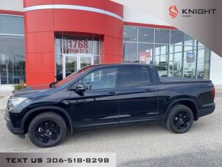 Used 2020 Honda Ridgeline Black Edition l Htd/ Cooled Seats/ Local Trade for sale in Moose Jaw, SK