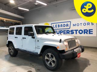 Used 2018 Jeep Wrangler Unlimited JK UNLIMITED SAHARA 4X4  * Navigation * 6.5inch touchscreen GPS navigation * Hands Free Calling * 18 Alloy Rims * Bridgestone All Terrain Tires *  C for sale in Cambridge, ON
