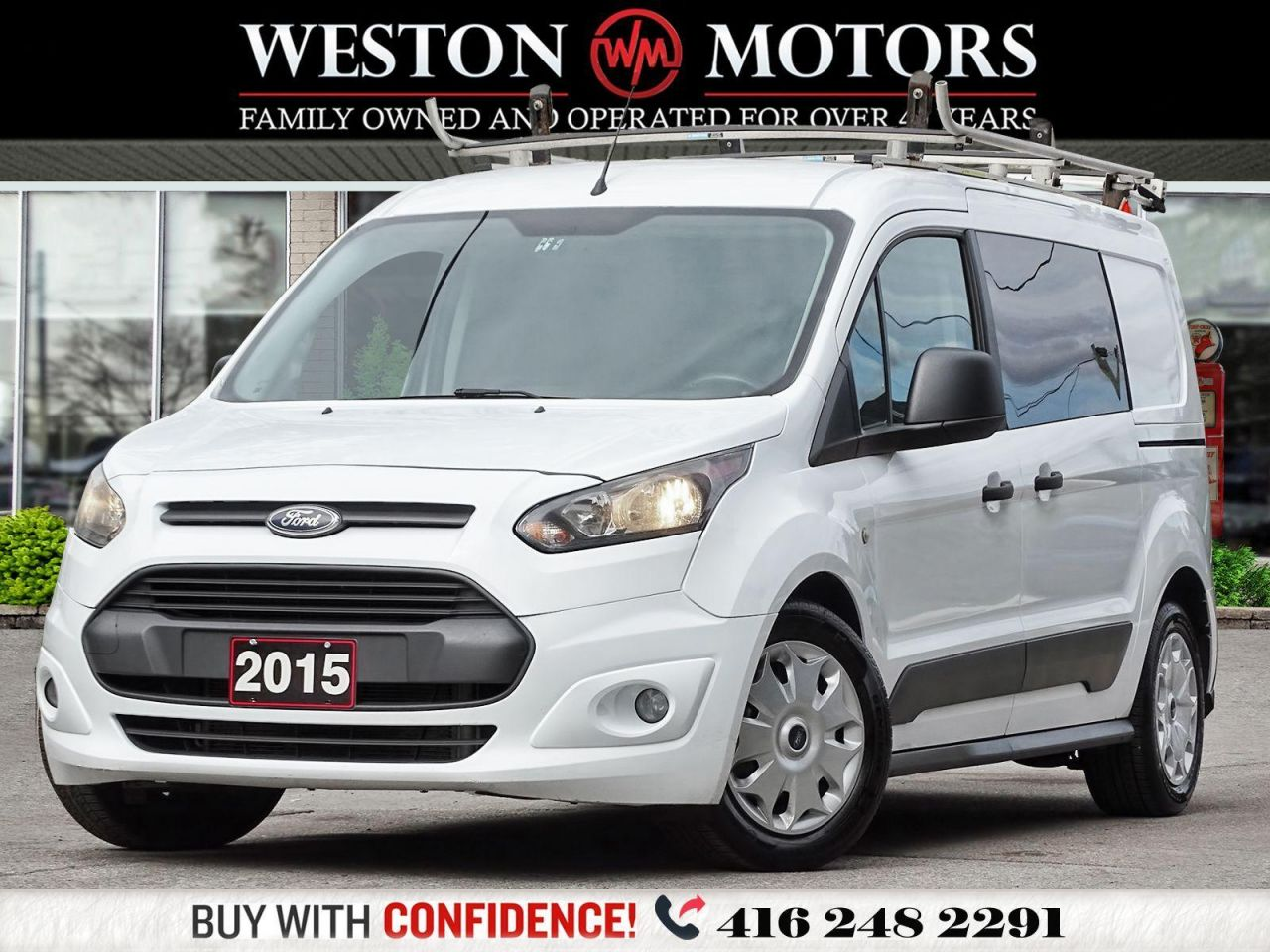 2015 Ford Transit Connect XLT*DUAL DOORS*SHELVING*REVCAM*